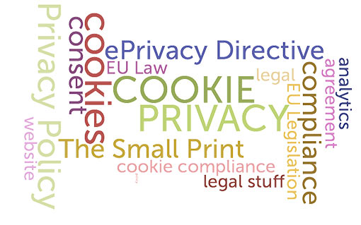 time to get online privacy and cookies policy wordcloud